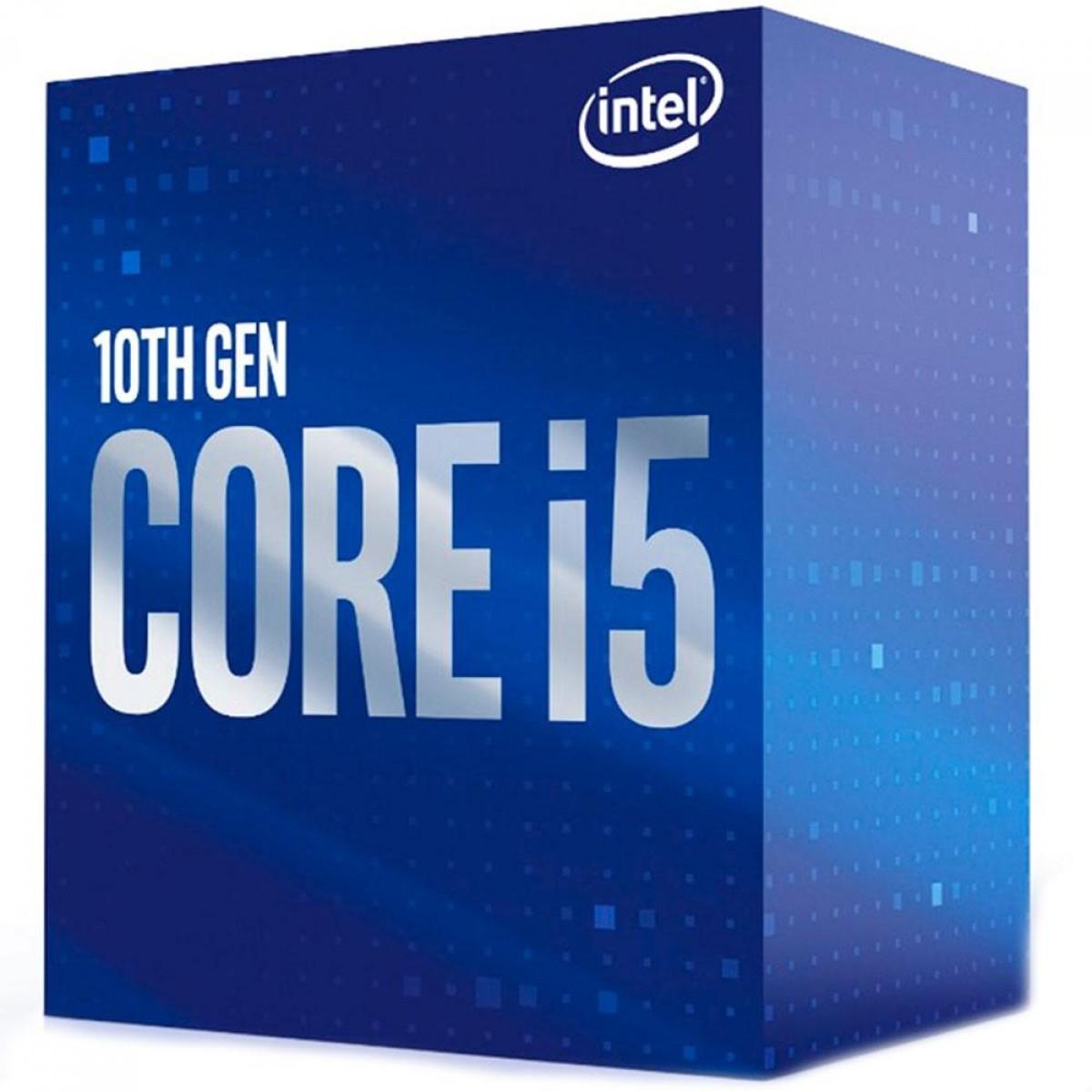 Processador Intel Core i5 10400F 2.90GHz (4.30GHz Turbo), 10ª Geração, 6-Cores 12-Threads, LGA 1200, BX8070110400F