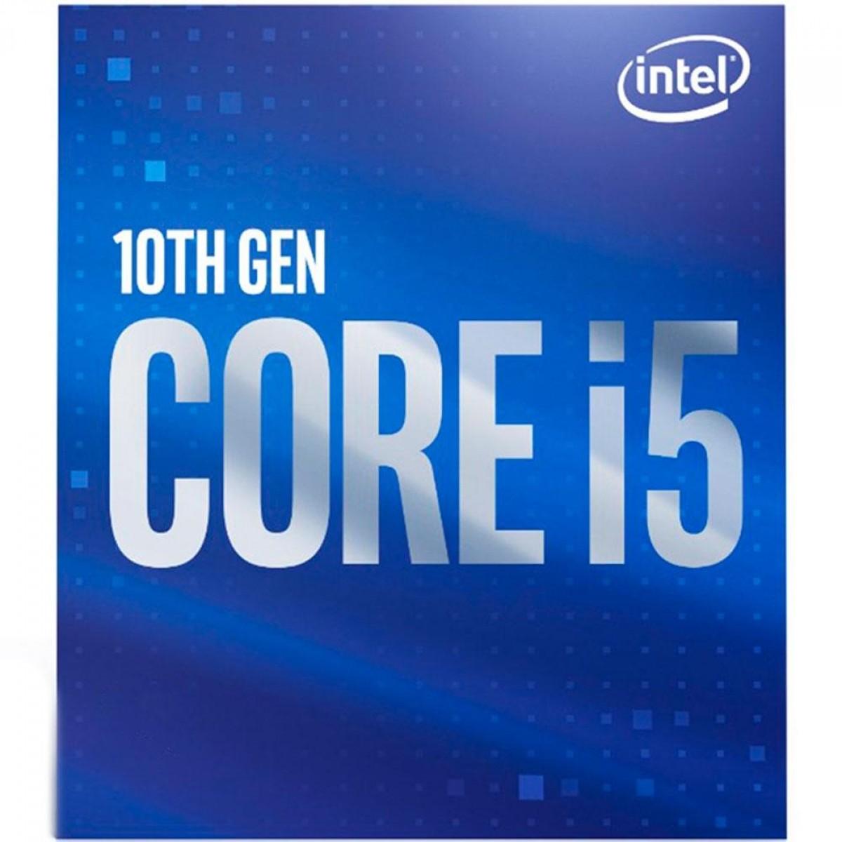 Processador Intel Core i5 10500, 3.10GHz, (4.50GHz Turbo), 10ª Geração, 6-Cores 12-Threads, LGA 1200, BX8070110500