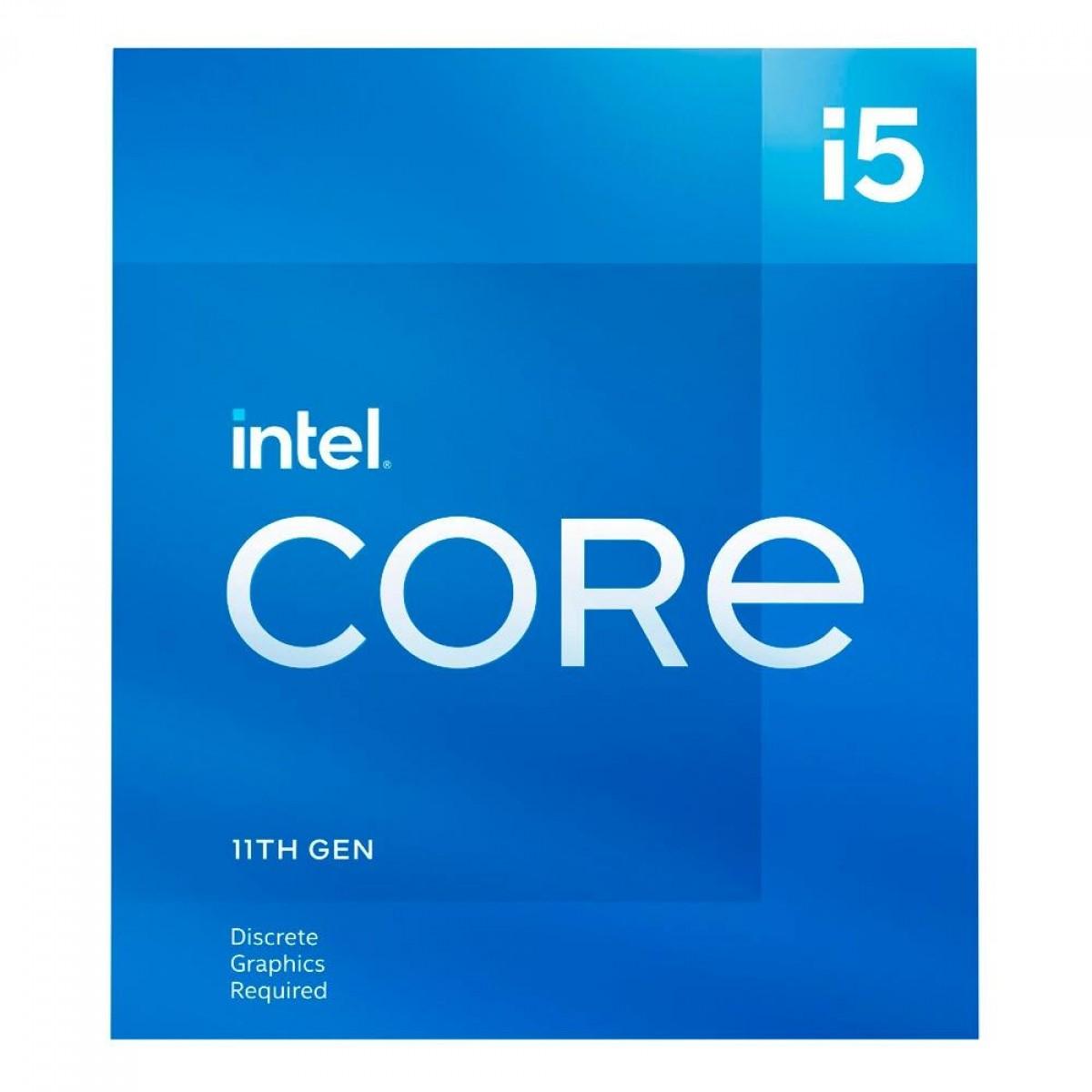 Processador Intel Core i5 11400F 2.6GHz (4.4GHz Turbo), 11ª Geração, 6-Cores 12-Threads, LGA 1200, BX8070811400F