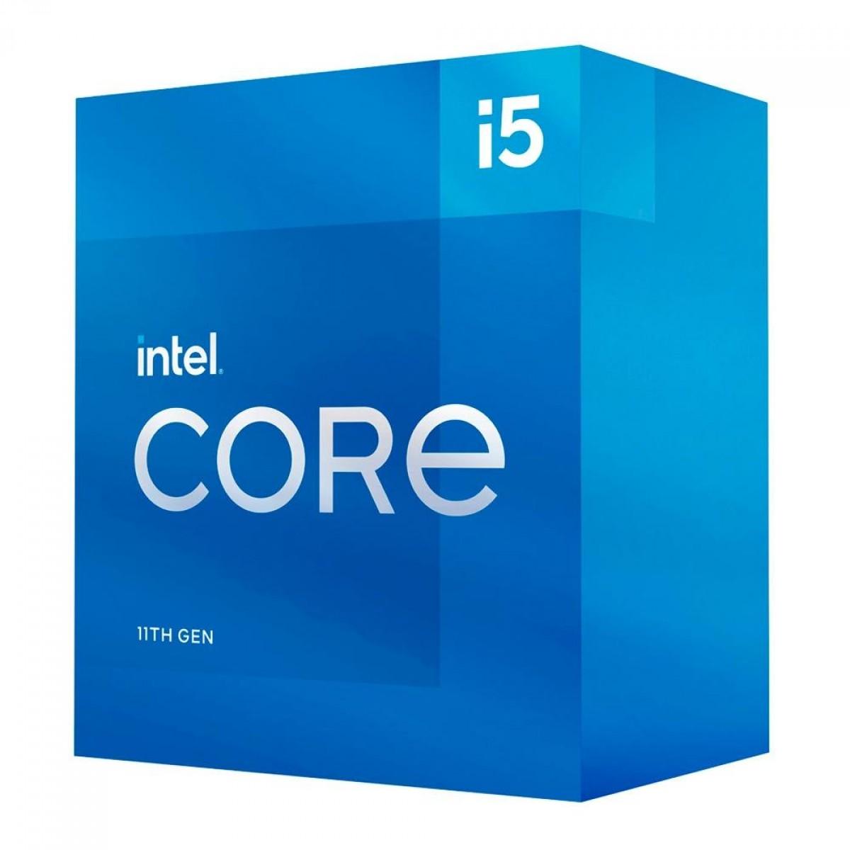Processador Intel Core i5 11500 2.7GHz (4.6GHz Turbo), 11ª Geração, 6-Cores 12-Threads, LGA 1200, BX8070811500