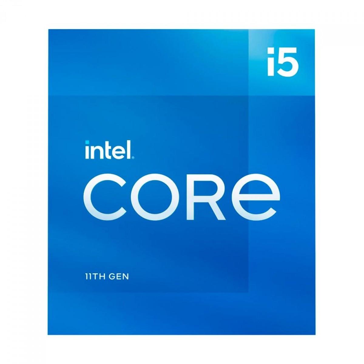 Processador Intel Core i5 11600 2.8GHz (4.8GHz Turbo), 11ª Geração, 6-Cores 12-Threads, LGA 1200, BX8070811600
