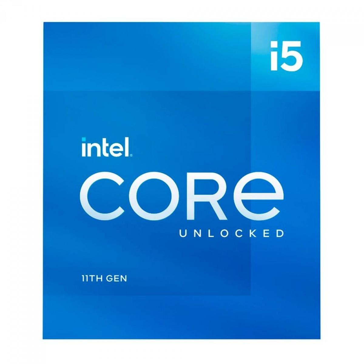 Processador Intel Core i5 11600K 3.9GHz (5.0GHz Turbo), 11ª Geração, 6-Cores 12-Threads, LGA 1200, BX8070811600K