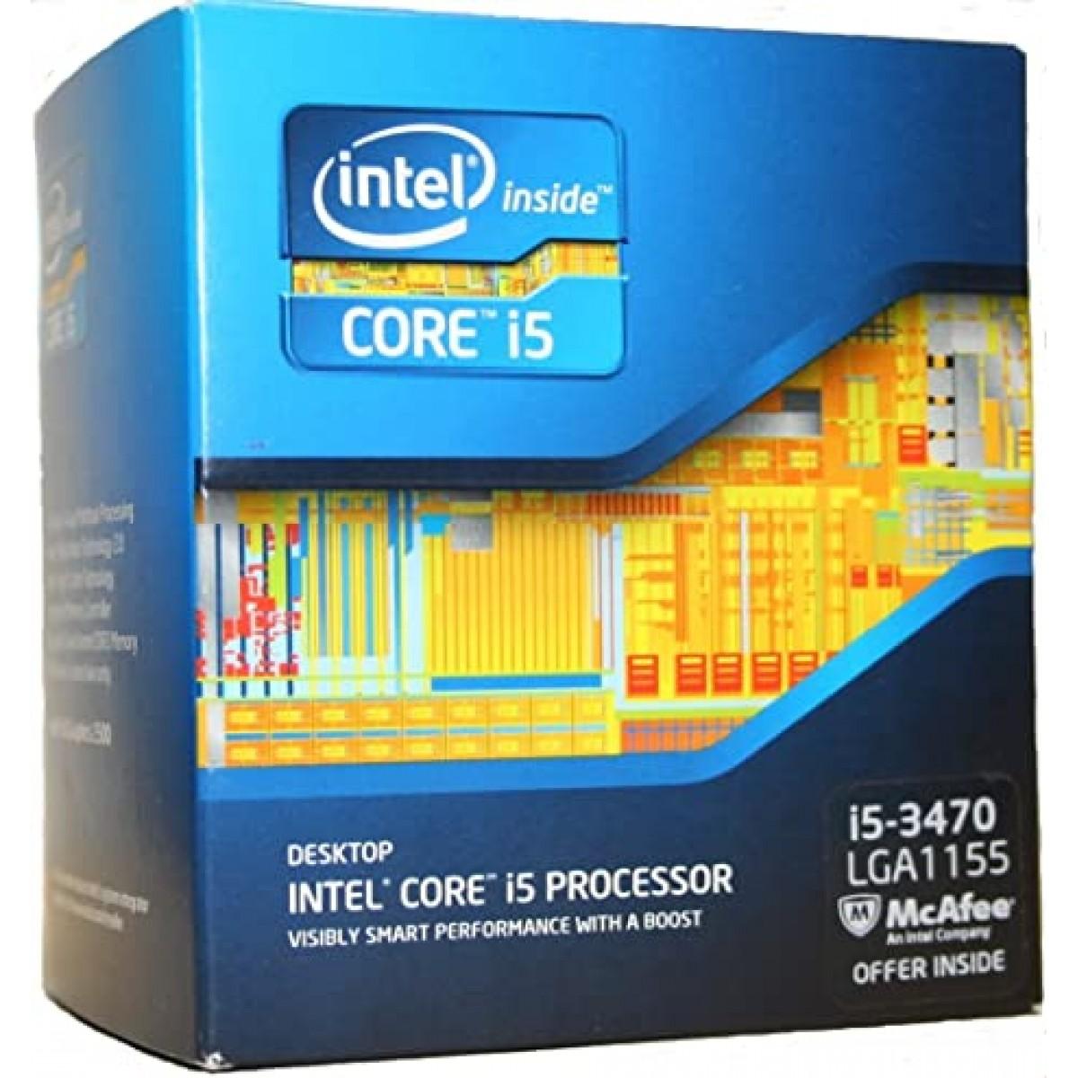 Processador Intel Core i5 3470 3.20GHz (3.60GHz Turbo), 6MB, 4-Cores 4-Threads, LGA 1155