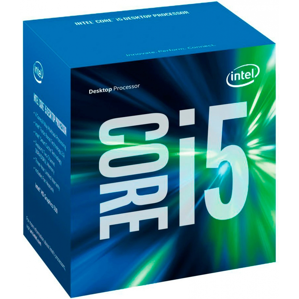 Processador Intel Core i5 7500 3.4GHz (3.8GHz Turbo), 7ª Geração, 4-Core 4-Thread, LGA 1151, BX80677I57500