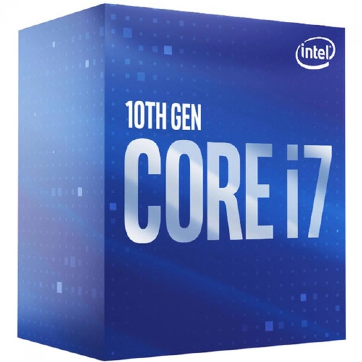 Processador Intel Core i7 10700F, 2.90GHz (4.80GHz Turbo), 10ª Geração, 8-Cores 16-Threads, LGA 1200, BX8070110700F