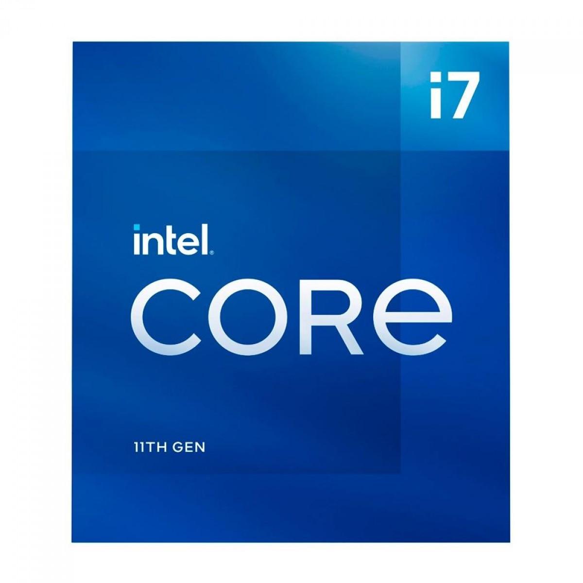 Processador Intel Core i7 11700 2.5GHz (4.9GHz Turbo), 11ª Geração, 8-Cores 16-Threads, LGA 1200, BX8070811700