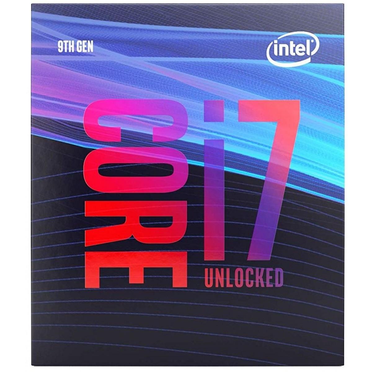 Processador Intel Core i7 9700 3.0GHz (4.70GHz Turbo), 9ª Geração, 8-Core 8-Thread, LGA 1151, BX80684I79700