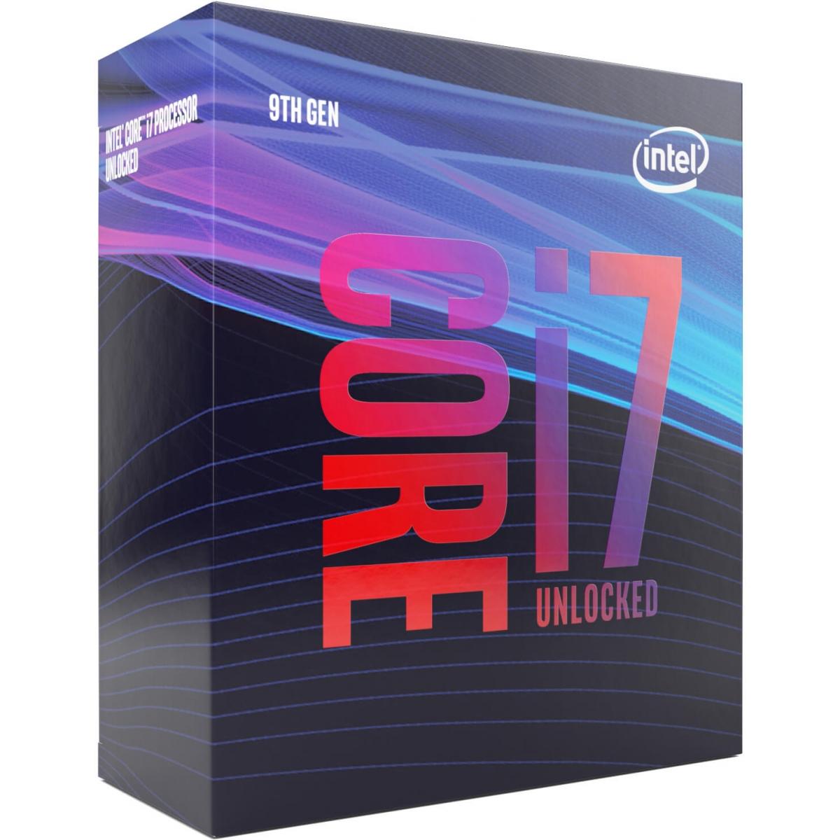 Processador Intel Core i7 9700K 3.60GHz (4.90GHz Turbo), 9ª Geração, 8-Core 8-Thread, LGA 1151, BX80684I79700K - Open Box