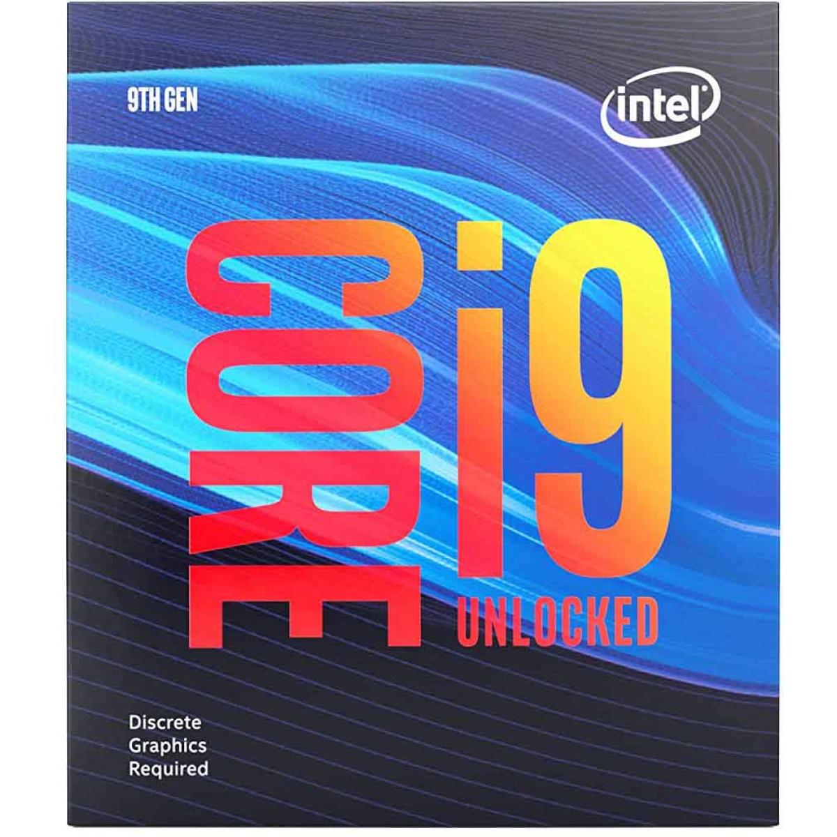 Processador Intel Core i9 9900KF 3.60GHz (5.0GHz Turbo), 9ª Geração, 8-Core 16-Thread, LGA 1151, BX80684I99900KF