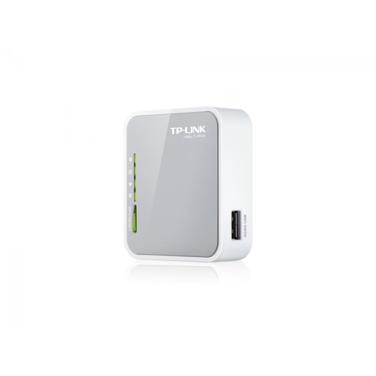Roteador Portátil TP-Link, 300Mbps, 3G/4G, USB, TL-MR3020