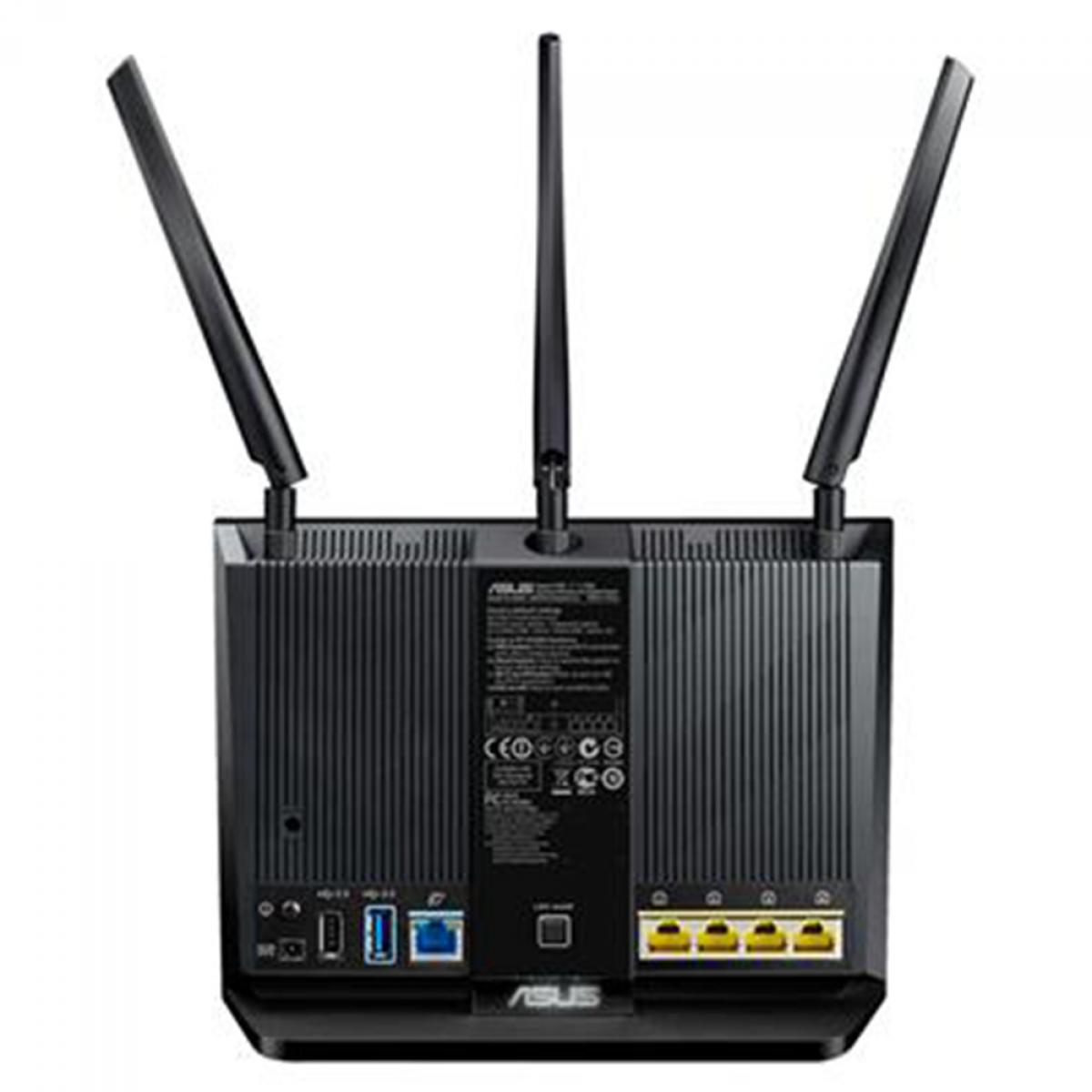 Roteador Asus, RT-AC68U, Wireless, AC1900 Dual-Band, 5G, AiMesh, Gigabit Router, 90IG00C3-MY8G00