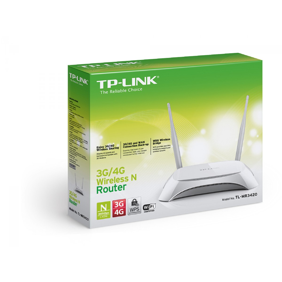Roteador Wireless N TP-LINK, 300Mbps, 3G/4G, Porta USB, TL-MR3420