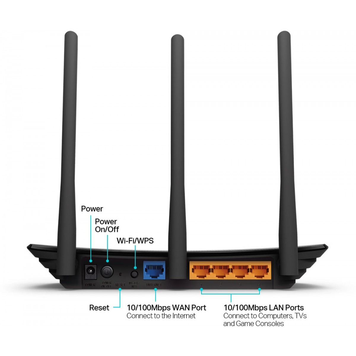 Roteador Wireless TP-Link Wireless N 450Mbps, TL-WR940N