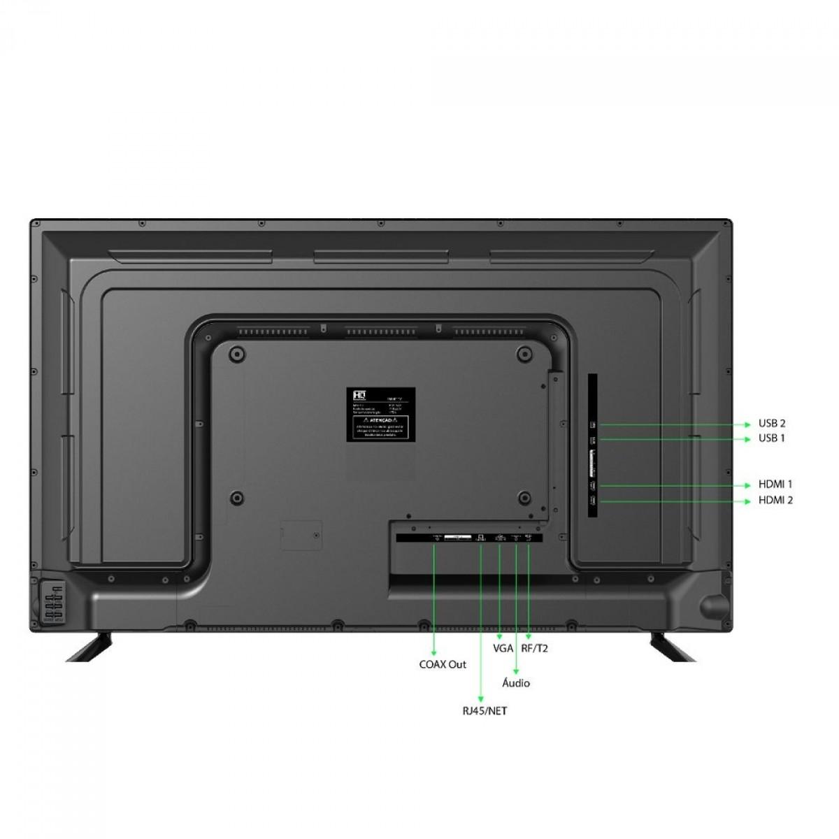"Smart TV LED 43"" HQ HQSTV43NY Ultra HD 4K Netflix Youtube 2 HDMI 2 USB Wi-Fi"