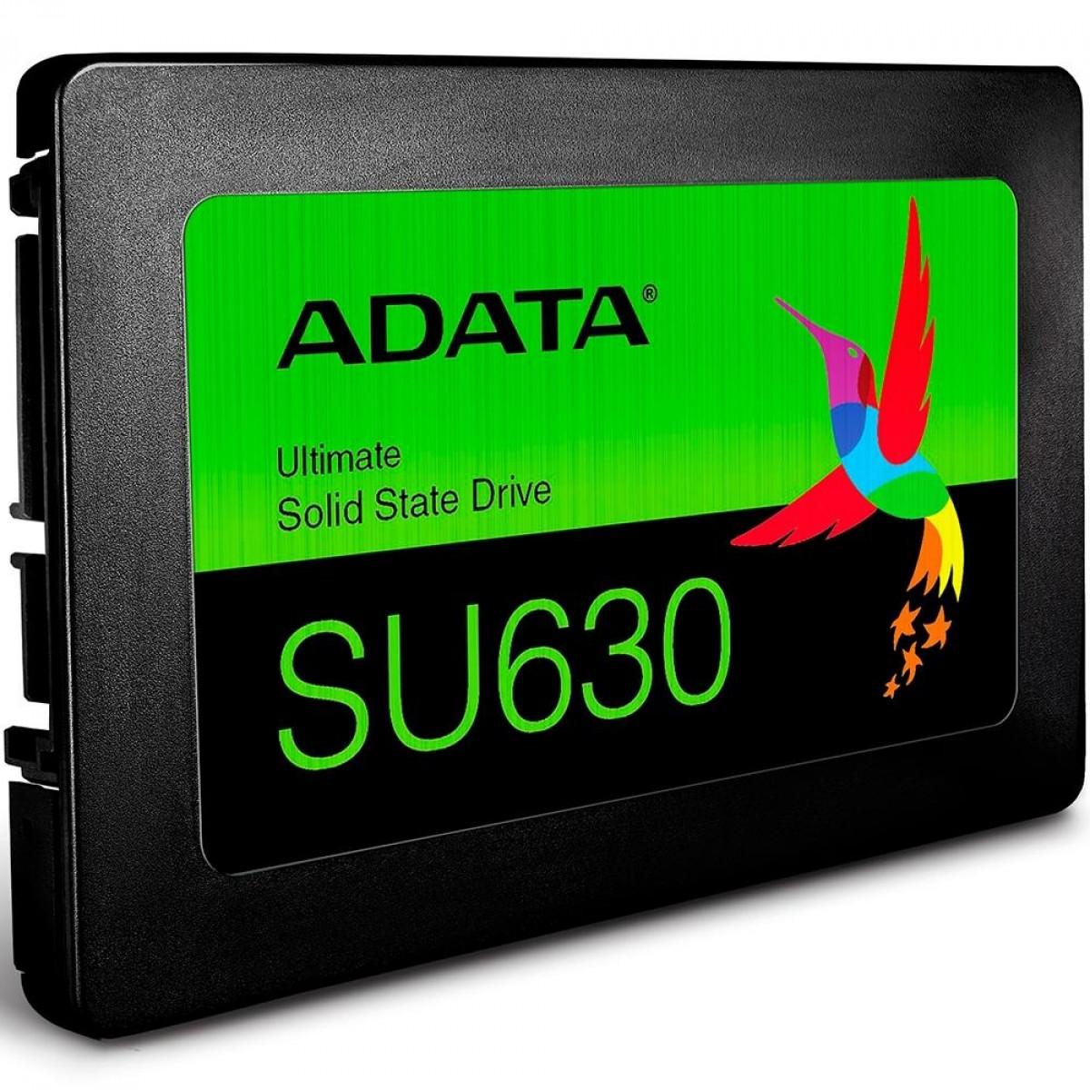SSD Adata SU630, 240GB, Sata III, Leitura 520MBs e Gravação 450MBs, ASU630SS-240GQ-R - IMP