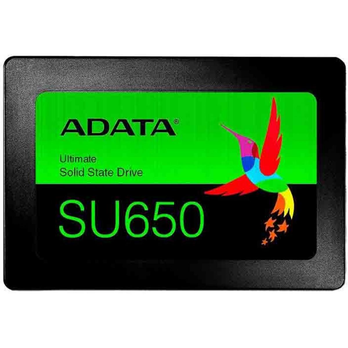 SSD Adata SU650, 120GB, Sata III, Leitura 520MBs e Gravação 450MBs, ASU650SS-120GT-R - IMP
