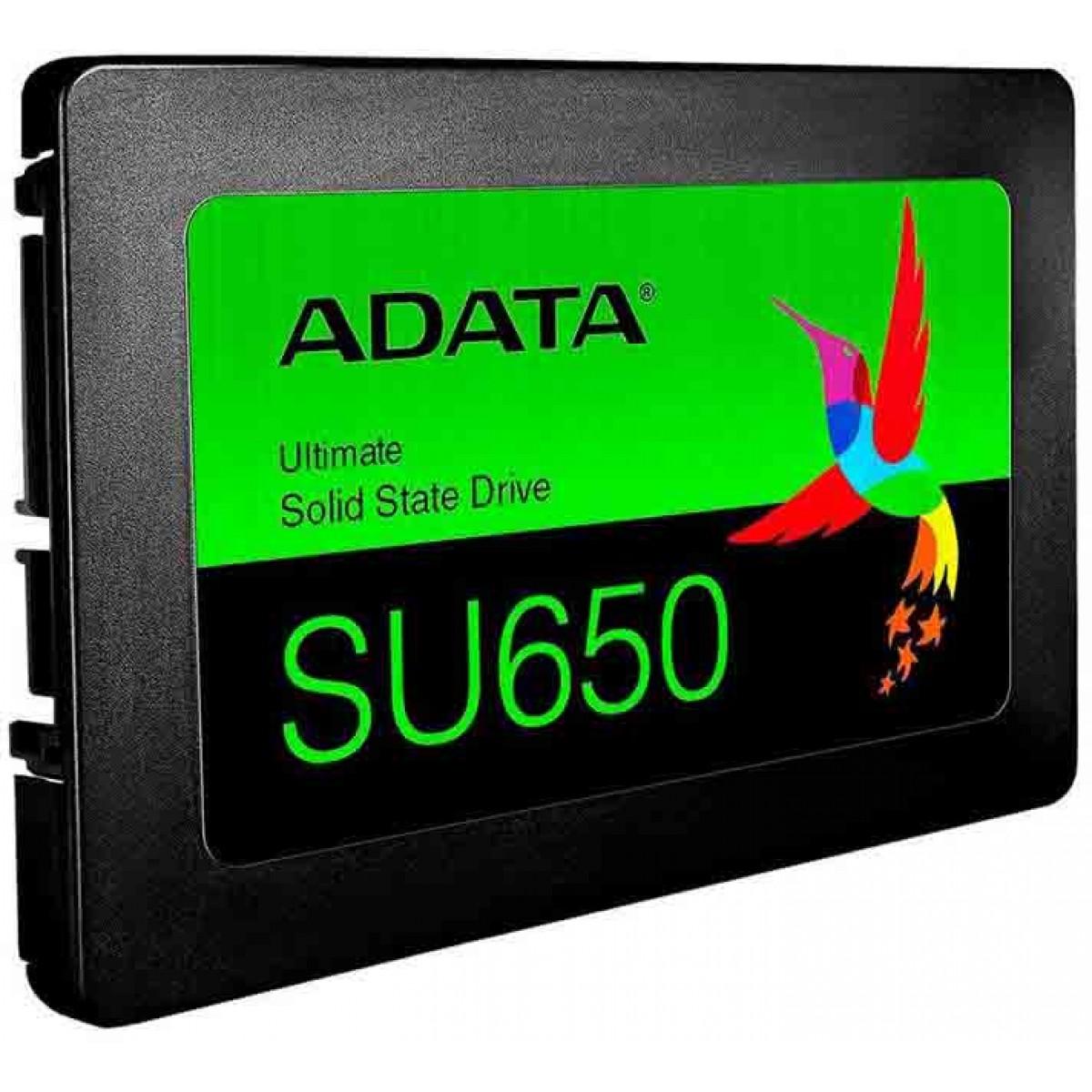 SSD Adata SU650, 240GB, Sata III, Leitura 520MBs e Gravação 450MBs, ASU650SS-240GT-R
