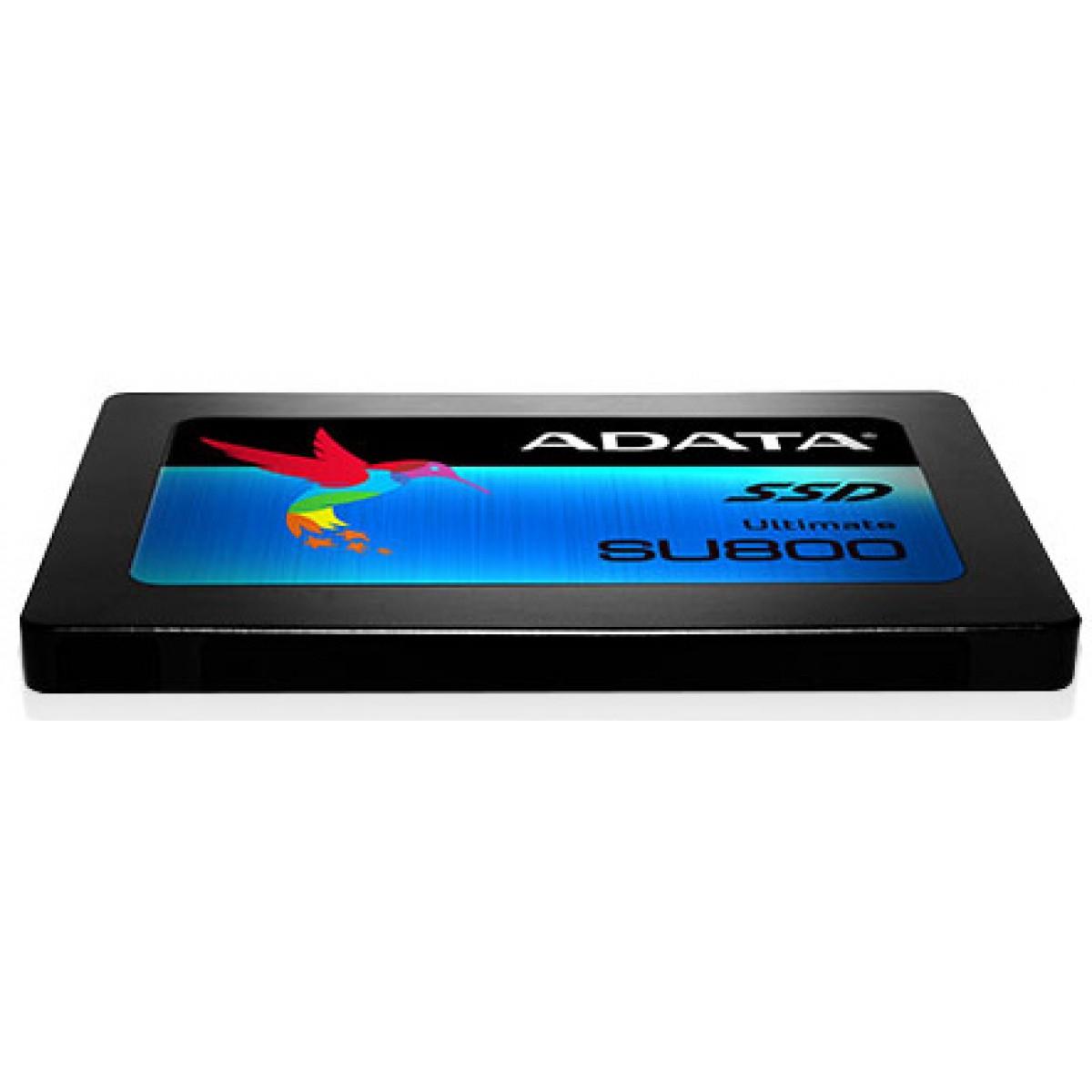 SSD ADATA Ultimate SU800 512GB ASU800SS-512GT-C SATA III LEITURA 560MB/S E GRAVAÇÃO 520MB/S, ASU800SS-512GT-C