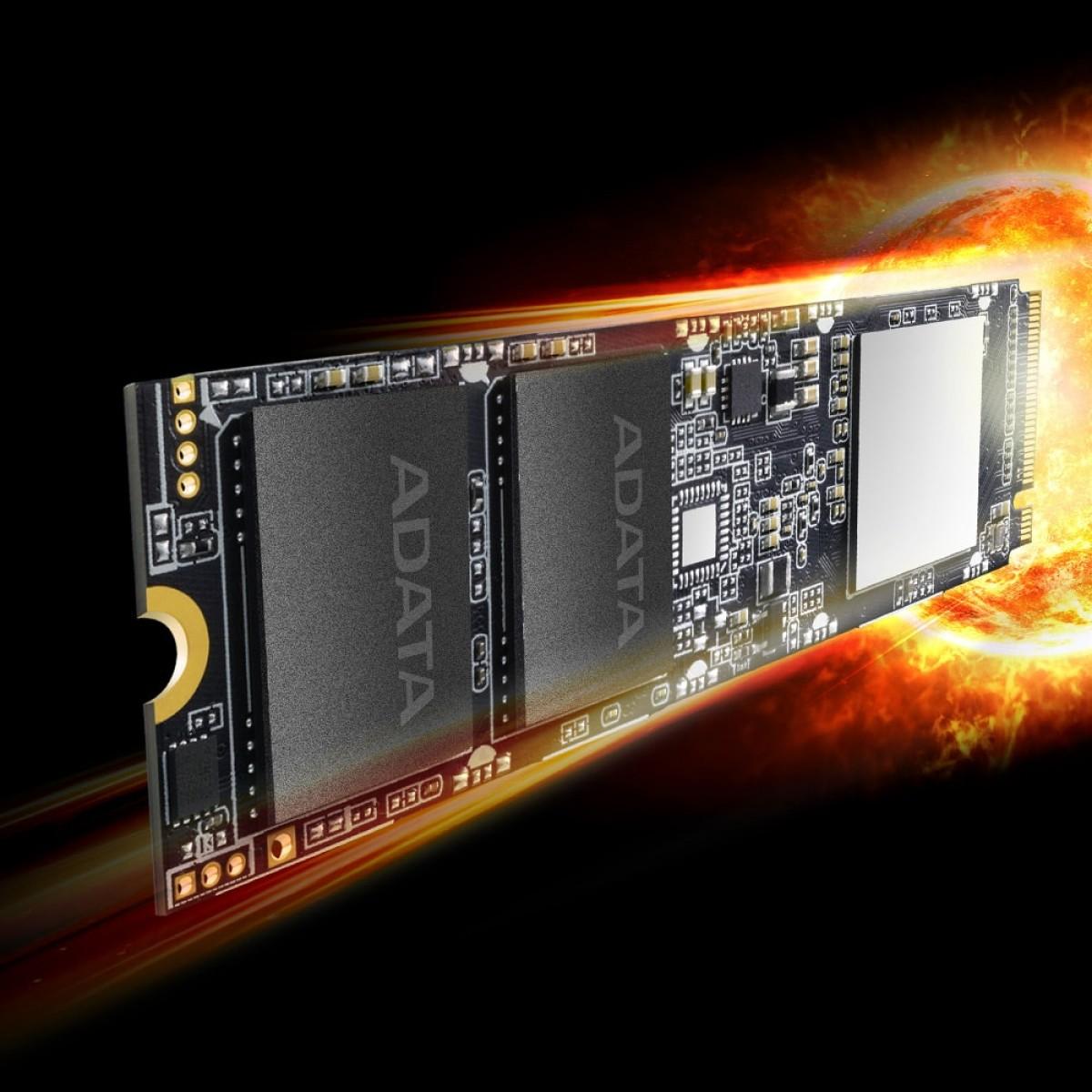 SSD Adata XPG SX8100 1TB, M.2 2280, Leitura 3500MBs e Gravação 3000MBs, ASX8100NP-1TT-C