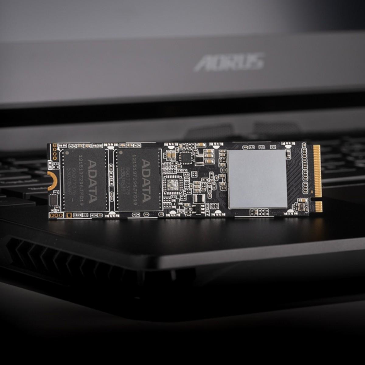 SSD Adata XPG SX8100 256GB, M.2 2280, Leitura 3500MBs e Gravação 3000MBs, ASX8100NP-256GT-C