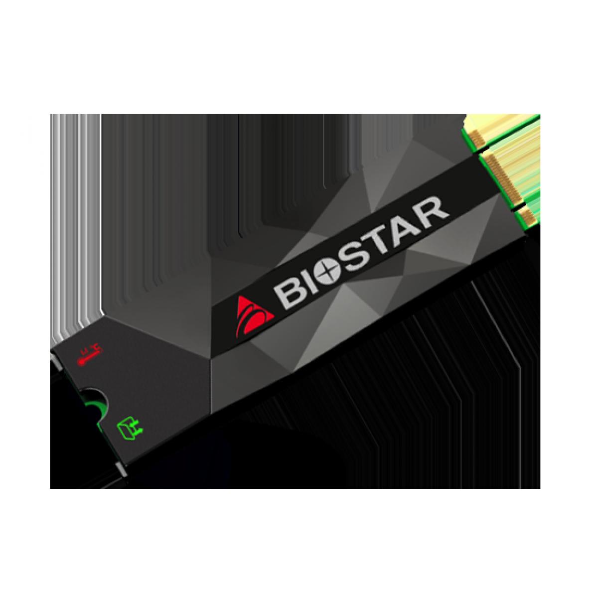 SSD Biostar P300, 256GB, NVME, Leitura 1600MBs e Gravação 900MBs, SE160PM236-YT1B8-BS2
