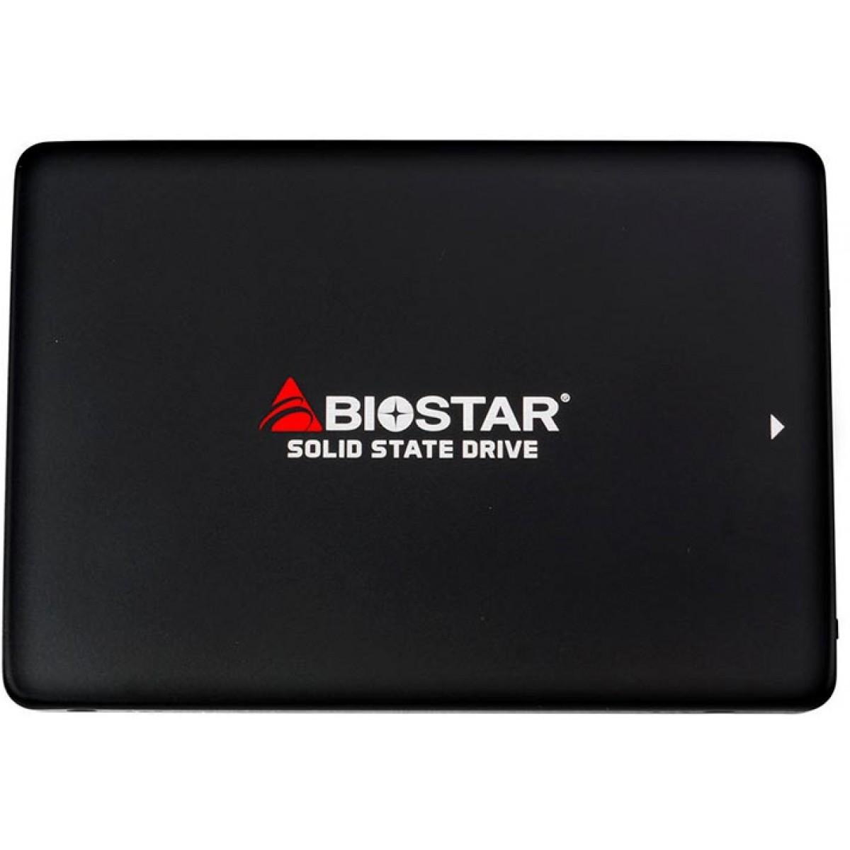 SSD Biostar S120 256GB, Sata III, Leitura 550MBs Gravação 510MBs, SA902S2E36-PS2PH-BS2