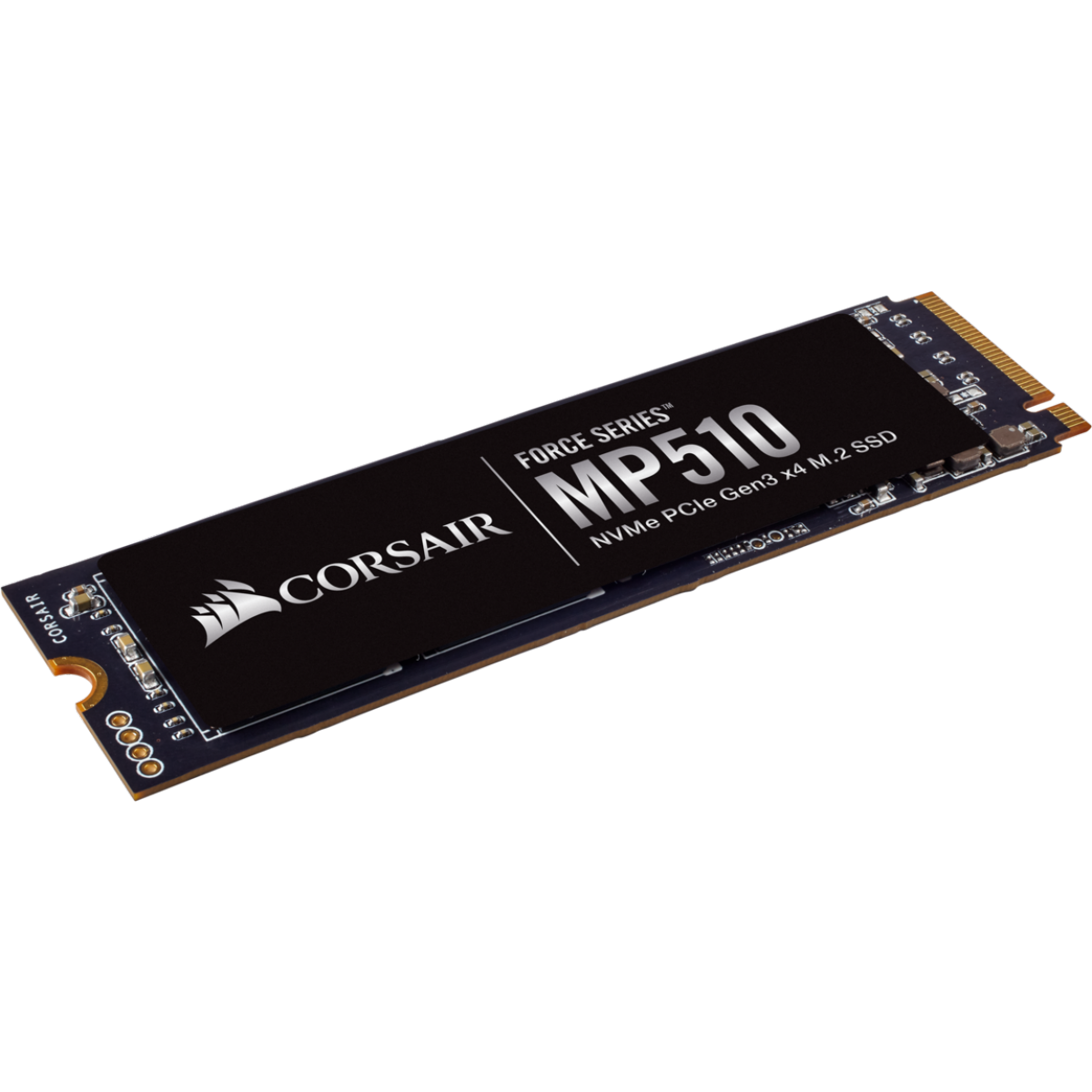 SSD Corsair Force MP510, 480GB, M.2 2280, NVMe, Leitura 3480MBs Gravação 2000MBs, CSSD-F480GBMP510