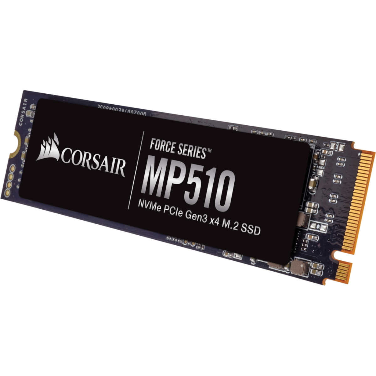 SSD Corsair Force MP510, 480GB, M.2 2280, NVMe, Leitura 3480MBs Gravação 2000MBs, CSSD-F480GBMP510B