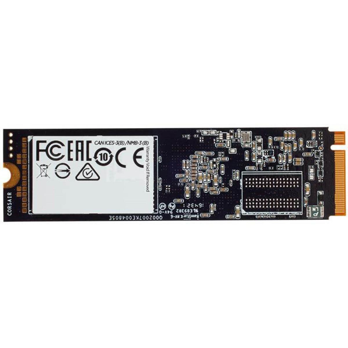 SSD Corsair Force MP510, 960GB, M.2 2280, NVMe, Leitura 3480MBs Gravação 3000MBs, CSSD-F960GBMP510B