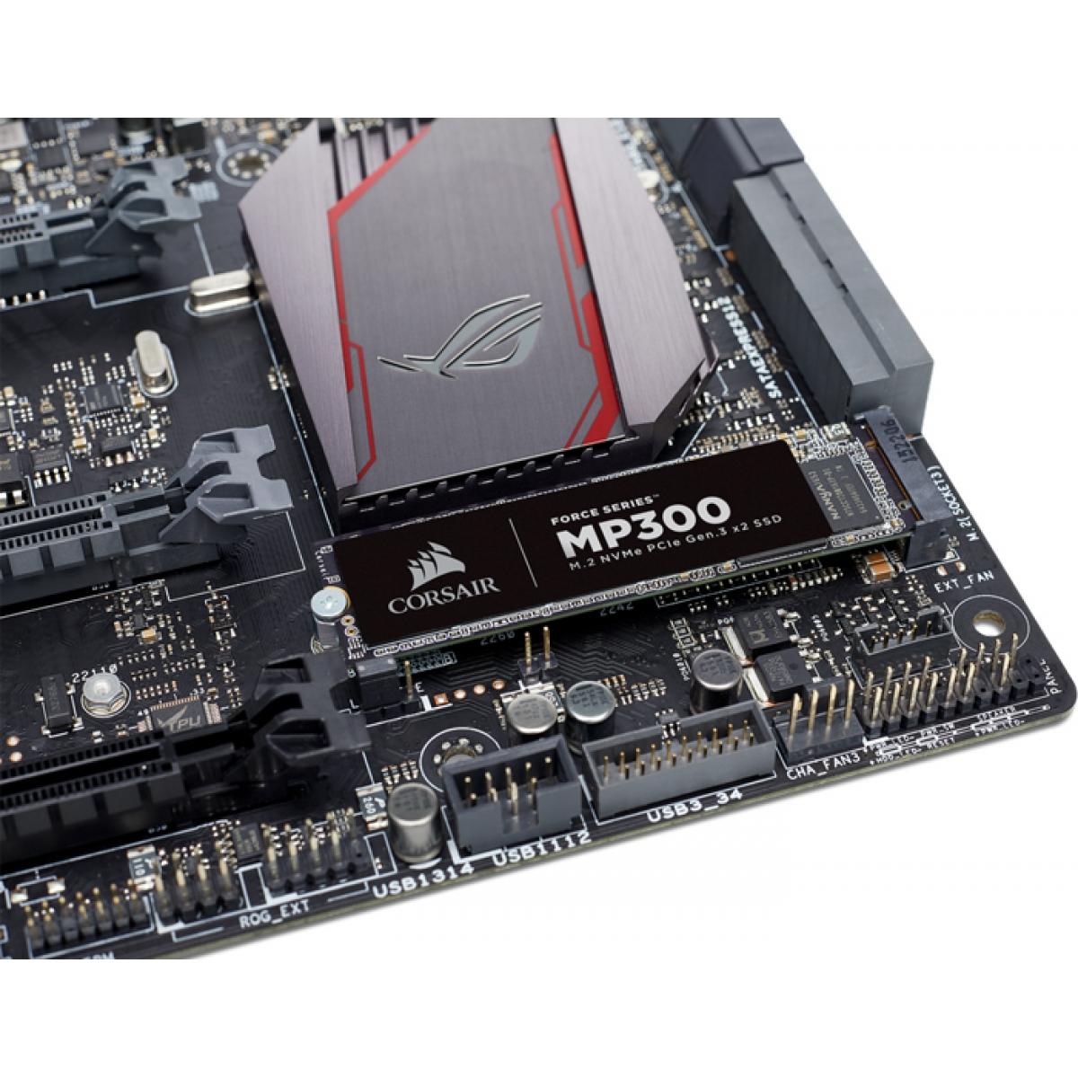 SSD Corsair MP300, 240GB, M.2 2280, NVMe, Leitura 1580MBs e Gravação 920MBs, CSSD-F240GBMP300