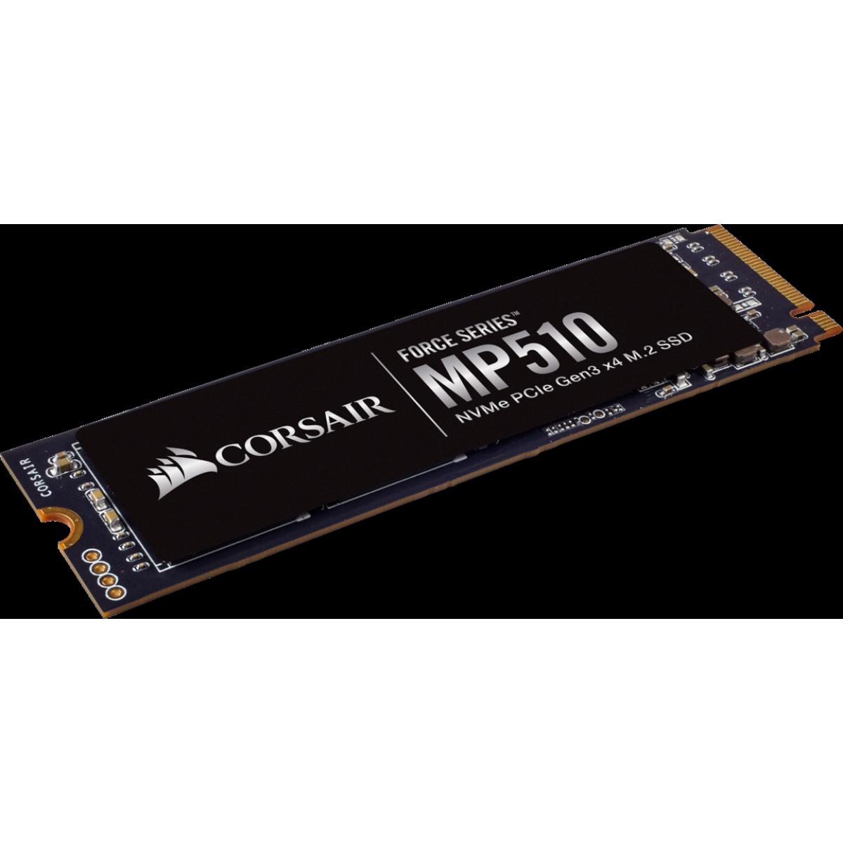SSD Corsair MP510 1920GB, M.2 2280, Leitura 3.480MBs e Gravação 2.700MBs, CSSD-F1920GBMP510
