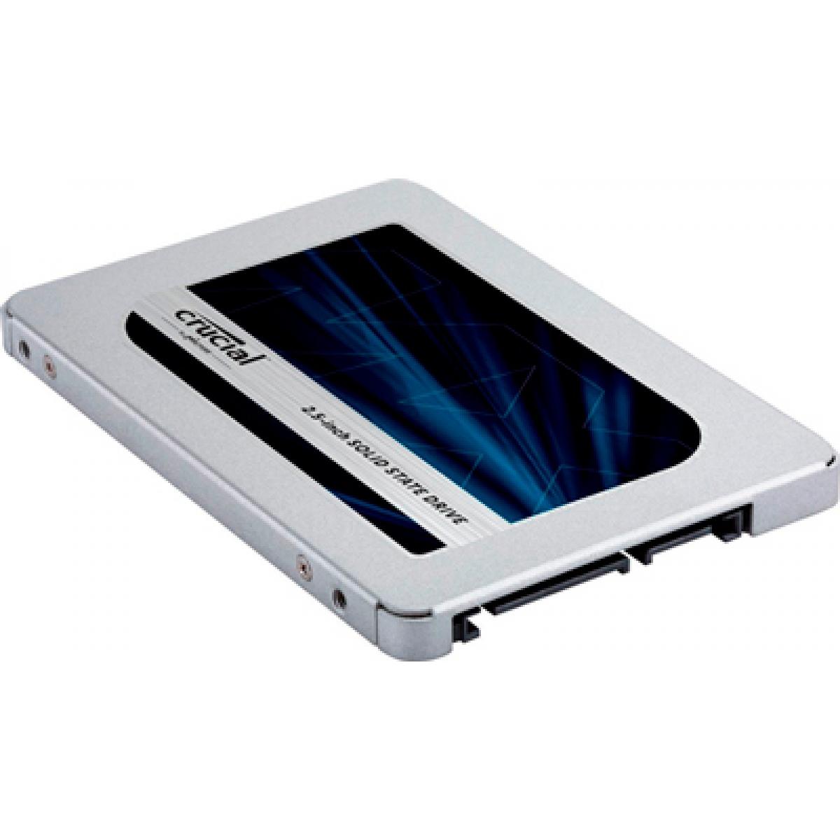SSD Crucial MX500, 250GB, Sata III, Leitura 560MB/S Gravação 510MB/s, CT250MX500SSD1