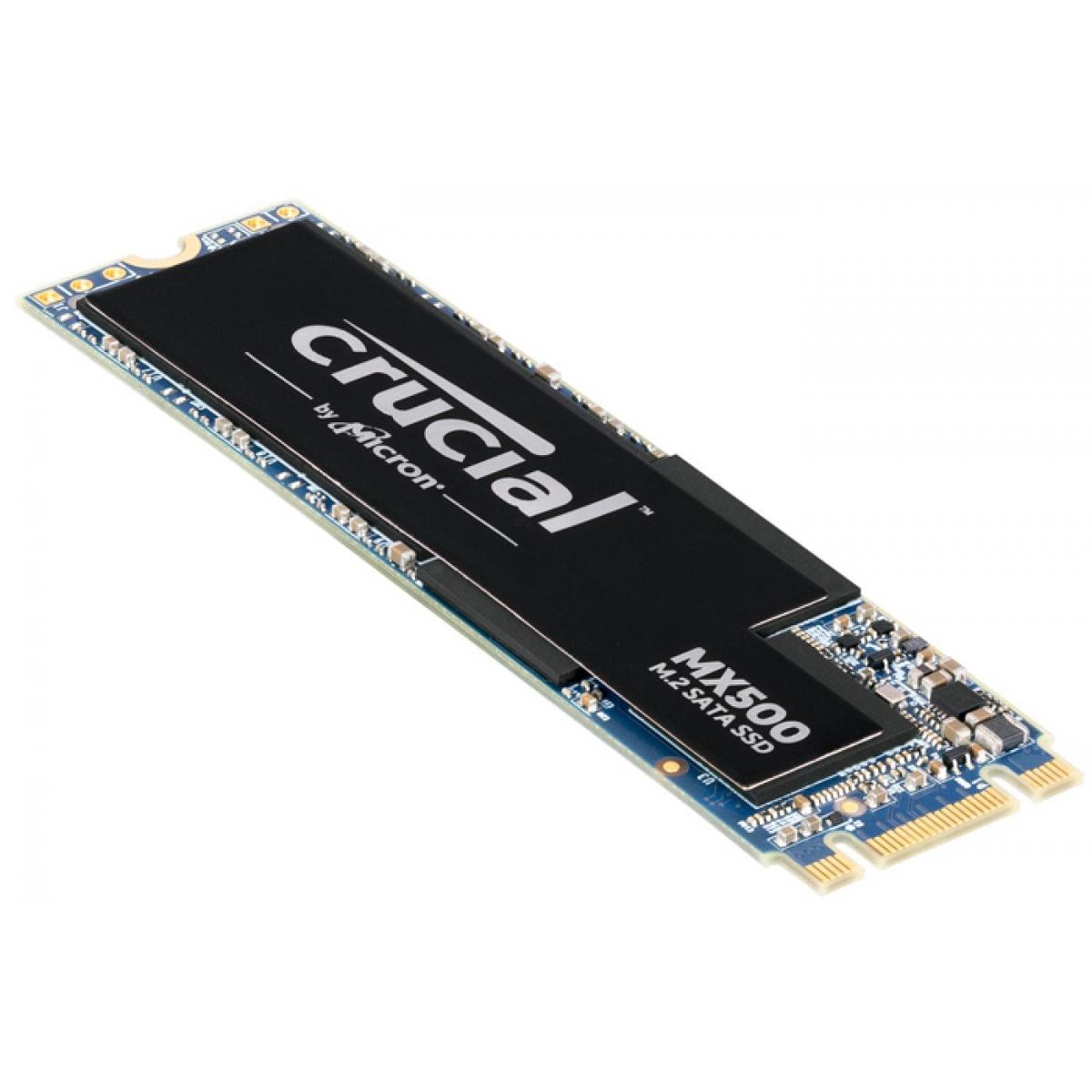 SSD Crucial MX500, 250GB, M.2 2280, Sata, Leitura 560MBs Gravação 510MBs, CT250MX500SSD4