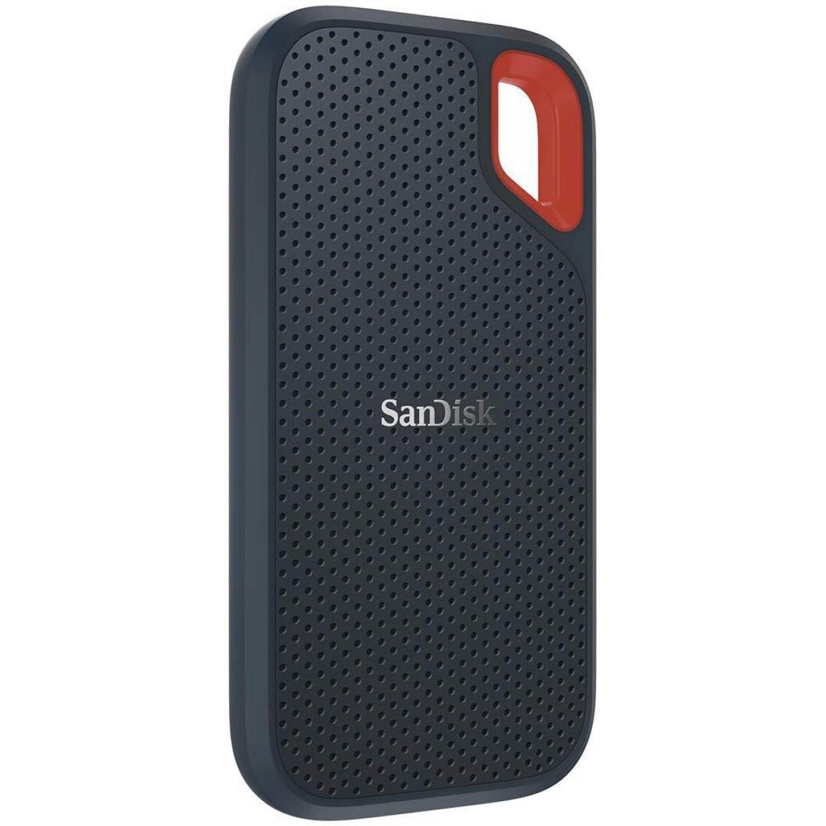 SSD Externo Portátil Sandisk Extreme 1TB, Leitura 550MB/s, SDSSDE60−1T00−G25