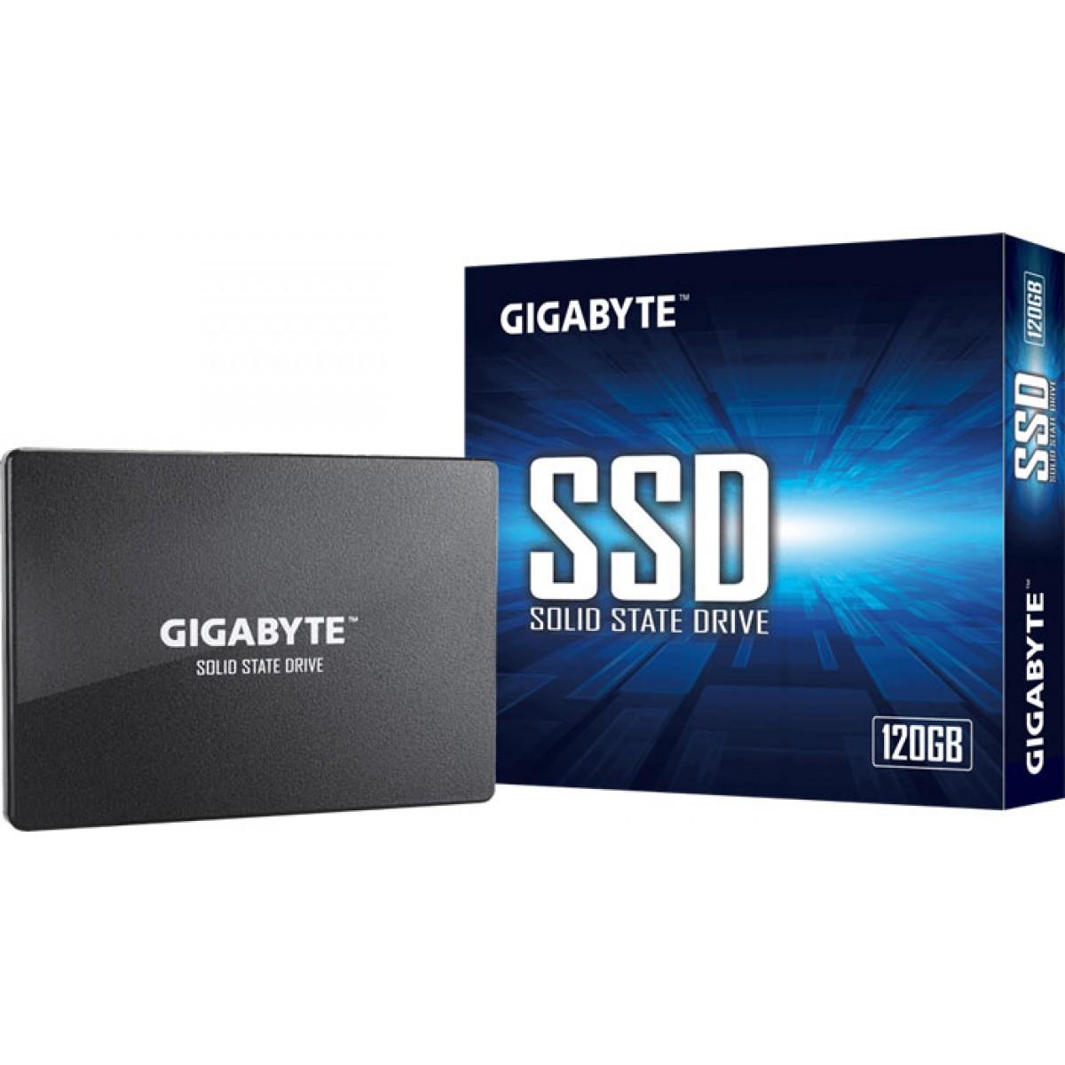 SSD Gigabyte, 120GB, Sata III, Leitura 350MBs e Gravação 280MBs, GP-GSTFS31120GNTD