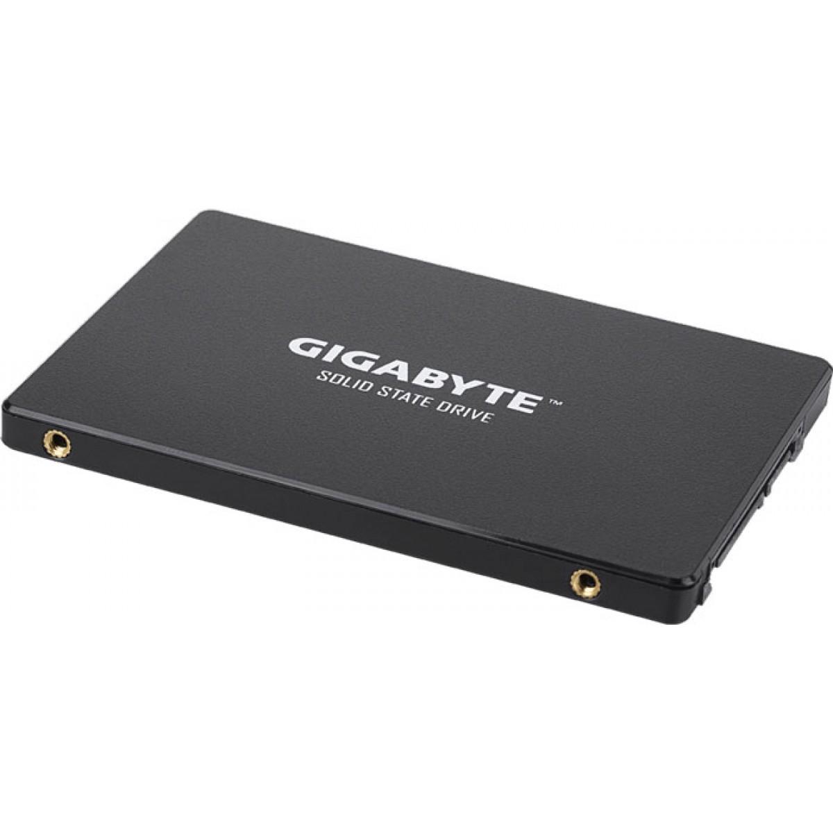 SSD Gigabyte 480GB, Sata III, Leitura 550MBs e Gravação 480MBs