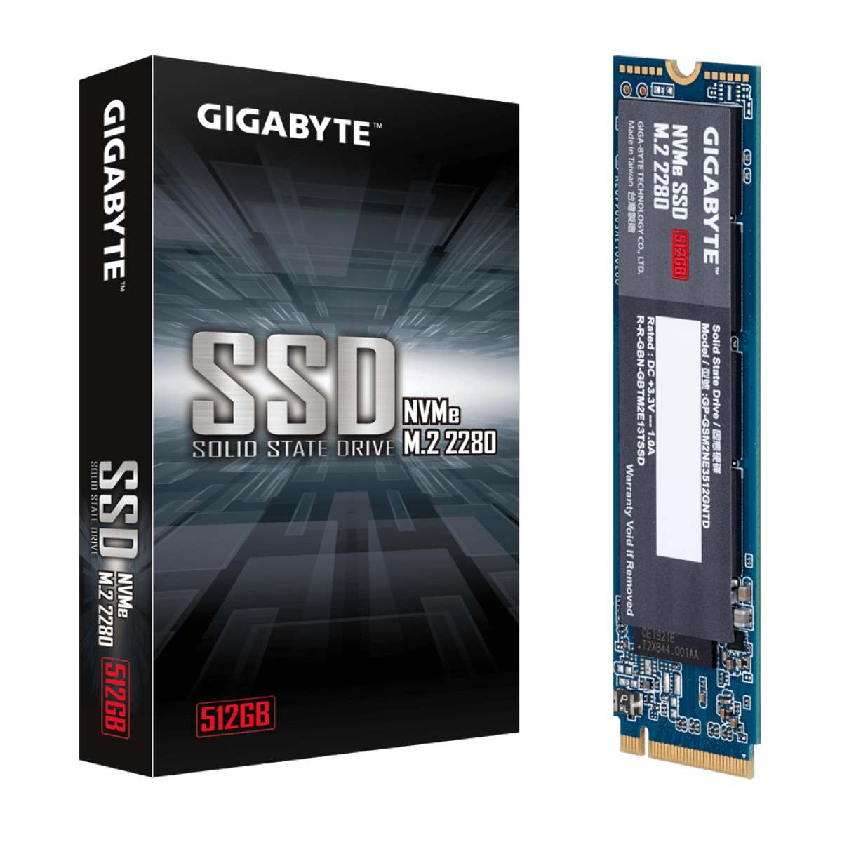 SSD Gigabyte, 512GB, M.2 2280, NVMe, Leitura 1700MBs e Gravação 1550MBs, GP-GSM2NE3512GNTD