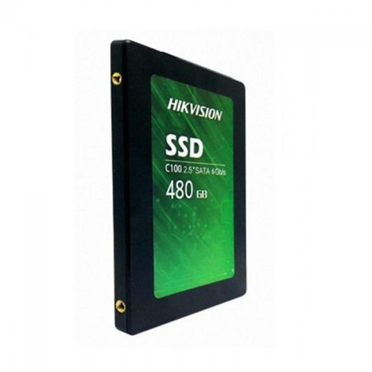 SSD Hikvision C100, 480GB, Sata III, Leitura 550MBs e Gravação 470MBs, HS-SSD-C100/480G