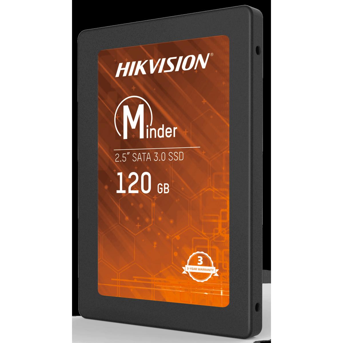 SSD Hikvision Minder, 120GB, Sata III, Leitura 460MBs e Gravação 360MBs, HS-SSD-Minder(S)/120G