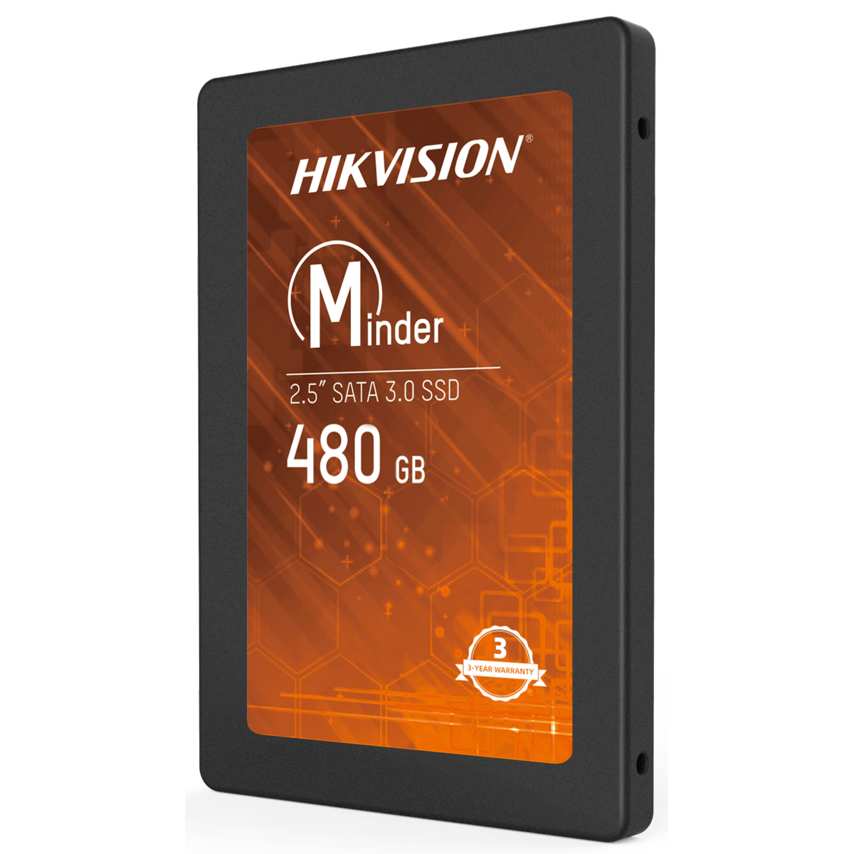 SSD Hikvision Minder, 480GB, Sata III, Leitura 550MBs e Gravação 470MBs, HS-SSD-Minder(S)/480G