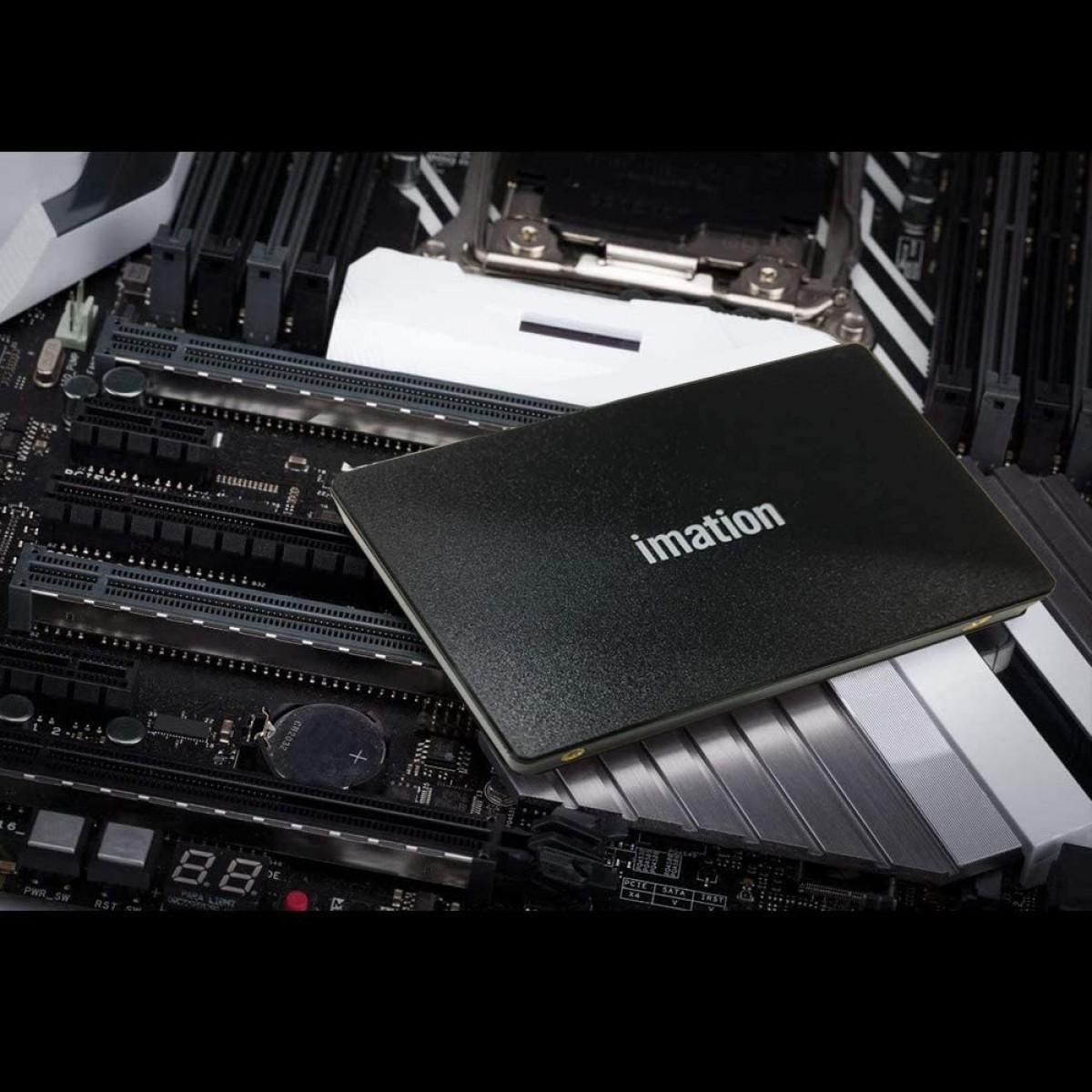 SSD Imation A320, 240GB, Sata III, Leitura 550MBs e Gravação 500MBs, IM240GSSDV01C1N6