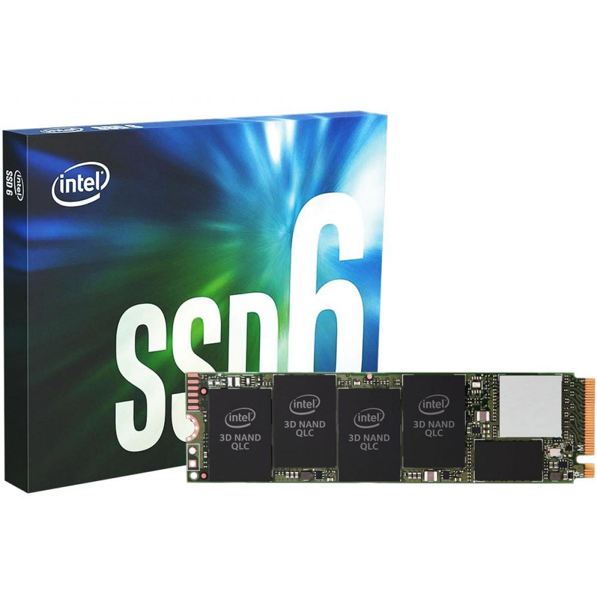 SSD Intel 660p, 1TB, M.2 NVMe, Leitura 1800MBs e Gravação 1800MBs, SSDPEKNW010T8X1
