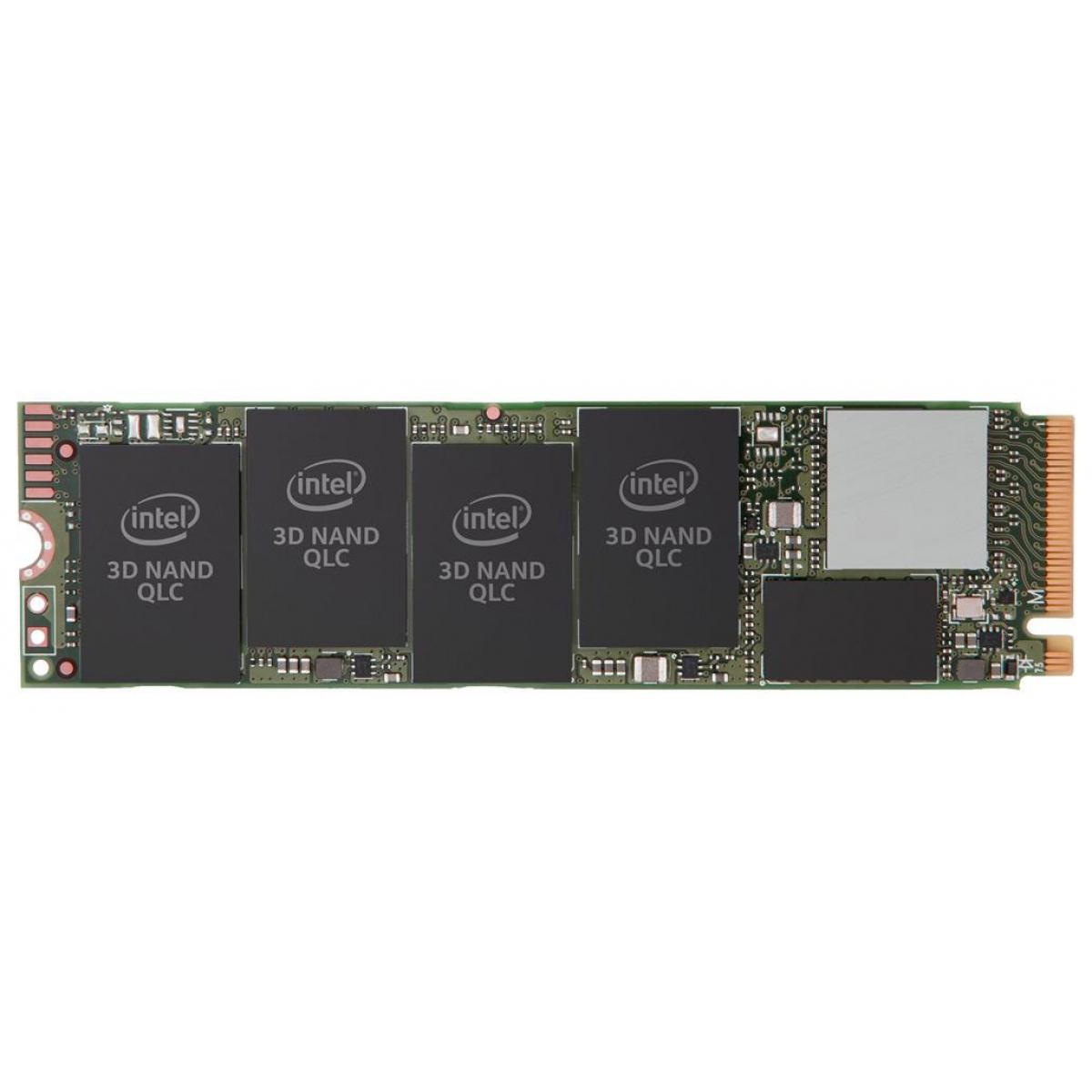 SSD Intel 660p, 512GB, M.2 2280, NVMe, Leitura 1500MBs e Gravação 1000MBs, SSDPEKNW512G8X1