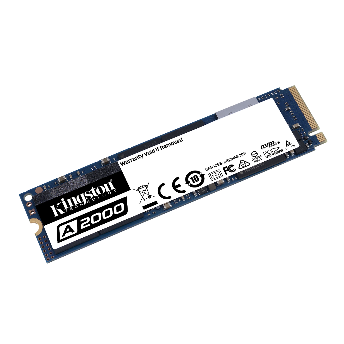 SSD Kingston A2000, 500GB, M.2 NVMe, Leitura 2200MBs e Gravação 2000MBs, SA2000M8/500G