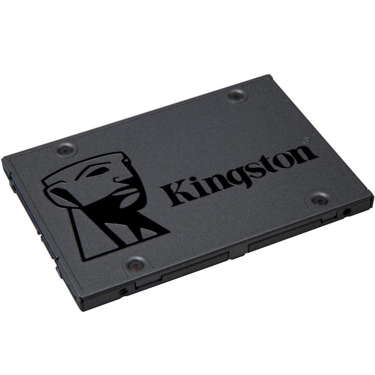 SSD Kingston A400, 1920GB, Sata III, Leitura 500MBs e Gravação 450MBs, SA400S37/1920G