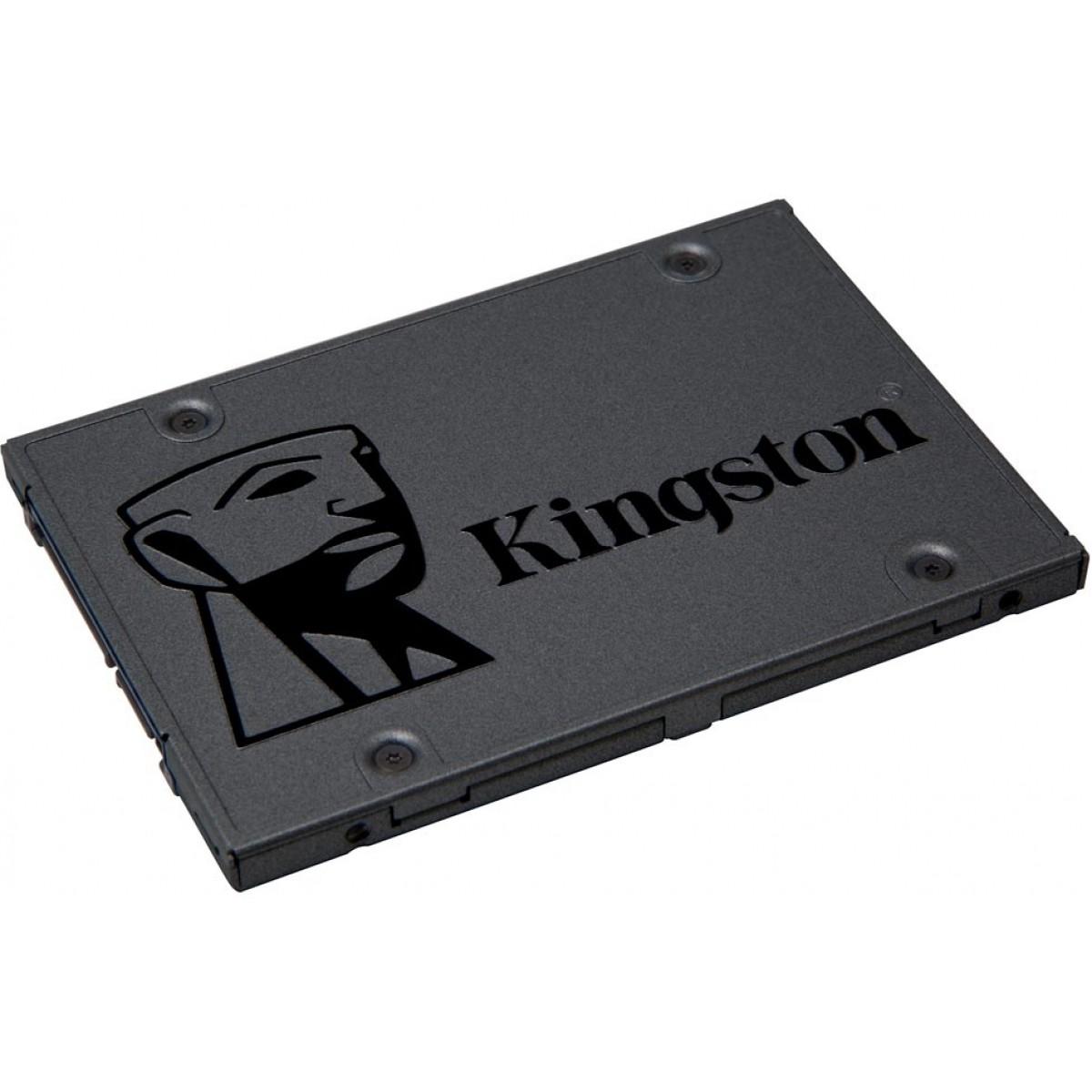 SSD Kingston A400, 240GB, Sata III, Leitura 500MBs Gravação 350MBs, SA400S37/240G