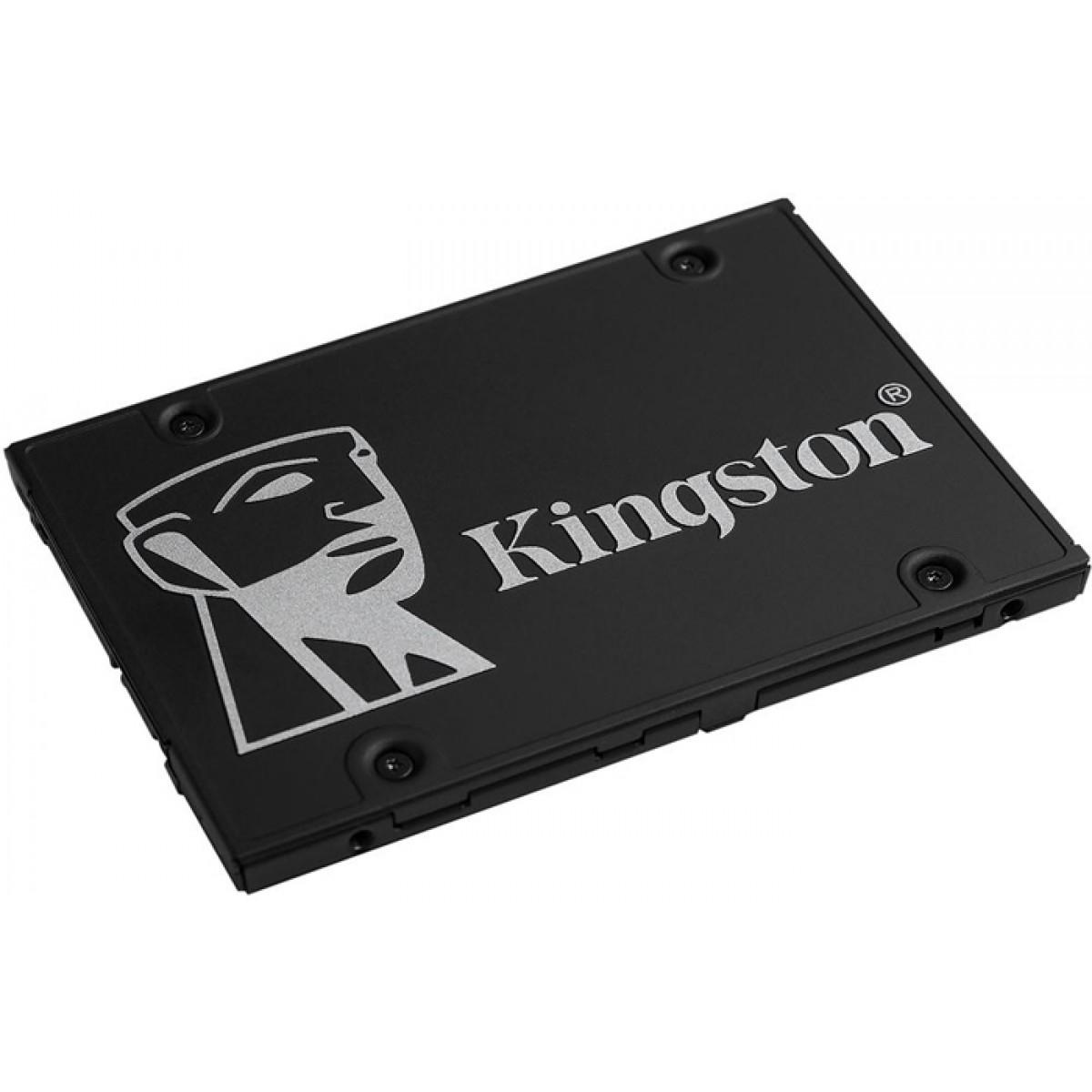 SSD Kingston KC600, 256GB, Sata, Leitura 550MB/s e Gravação 500MB/s, SKC600/256G