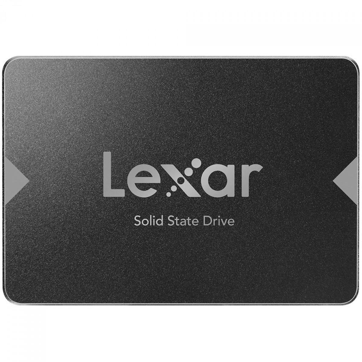 SSD Lexar NS100, 512GB, Sata III, Leitura 550MBs, LNS100-512RBNA