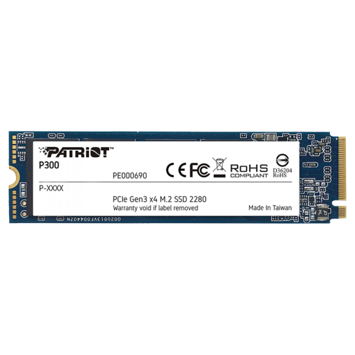 SSD Patriot P300, 1TB, M.2 NVME, Leitura 2100MBs e Gravação 1650MBs, P300P1TBM28