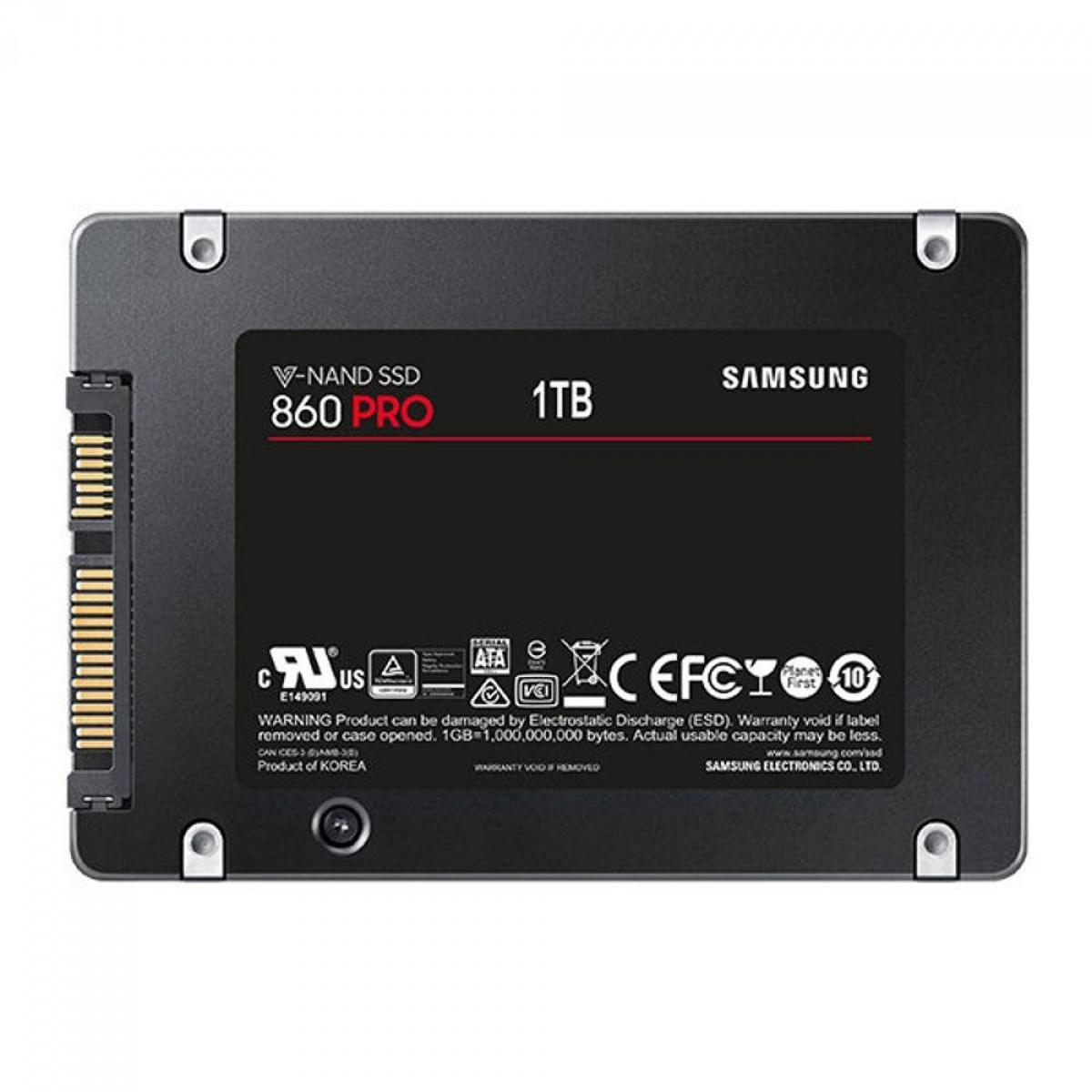 SSD Samsung 860 PRO, 1TB, Sata III, MZ-76P1T0E